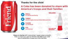 Send a FREE Coke to American Troops and Their Families!