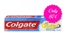 Colgate Total Whitening Toothpaste Only $.87 Each at CVS!