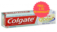 FREE + 50¢ Money Maker on Colgate Total Toothpaste at Walgreens!