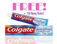 FREE + 25¢ Money Maker on Colgate Toothpaste at Walgreens!