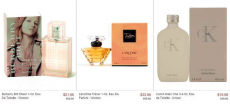 Designer Fragrances up to 70% off: Burberry, Calvin Klein, Versace and more!