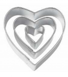 Set of 3 Heart Shaped Cookie Cutters Only $0.99 Shipped!