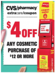 CVS: $4 Off $12 Cosmetic Purchase Coupon!