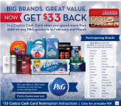 Costco: Get $33 Back on Your Purchase of P&G Products!