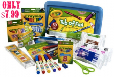 HOT! Crayola Tub of Fun Only $7.99 + FREE Store Pick-Up!