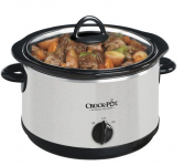 Crock Pot 4-Quart Slow Cooker in Stainless/Black Only $12.99 + FREE Store Pick-Up! (Reg. $25.99!)