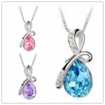 Crystal Drop Pendant Necklace Just $2 Shipped!