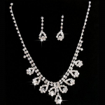Bridal Crystal Necklace Earrings Set Only $4.74 Shipped!