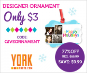 Custom Photo Ornament only $3!