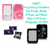 HOT! Vinyl Decal Stickers for Kindle, Nook, iPhone, and More Only $.49 Each (Originally $9.99!)
