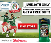 Free Gift with Degree Deodorant Purchase at Walgreens!