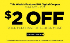 HOT! FREE $2 to Spend at Dollar General + Over $100 in Coupons!