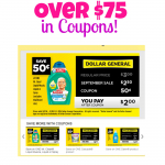 HOT! Over $75 in Dollar General Coupons!