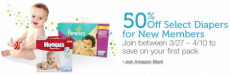 Amazon: Save 60% on Diapers + FREE Shipping!