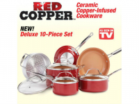 Red Copper 10-Piece Cookware Set Only $79.99 (reg $120) Shipped!