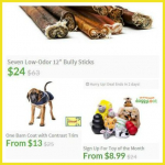 Save up to 75% on Dog Treats, Toys and more at DoggyLoot!