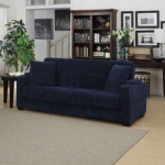 Sadie Storage-Arm Velvet Convert-a-Couch Only $577.50 Shipped!