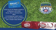 Walmart: FREE $10 Gift Card with Dr. Pepper Purchase!