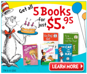 5 Dr. Seuss Books for $5.95 + Free Dr Seuss Gift!