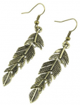 Vintage Antique Bronze Leaf Drop Dangle Earrings Only $3.49 Shipped!