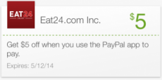 FREE $5 Credit to Eat24 Food Delivery Service!