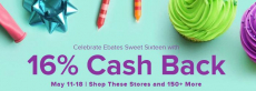 Ebates: 16% Cash Back at Over 150 Retailers!!