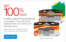 HOT! 64 FREE Energizer Batteries at Office Depot!