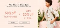 ANN TAYLOR 50% Off + Extra 20% Off 3+ Items