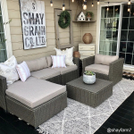 6-Piece Outdoor Wicker Patio Sectional Set $699.99 (REG $1,166.99)