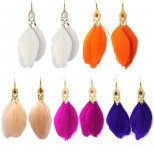 Goose Feathers Fashion Dangle Earrings Only $2.19 + FREE Shipping!