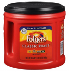 Folgers Coffee Classic Roast 30.5 oz $5.99 (REG $10.99)