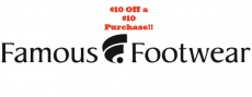 *HOT* $10 Off $10 Purchase at Famous Footwear Coupon!