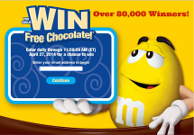 FREE Mars Chocolate Instant Win Game! Over 80,000 Winners!