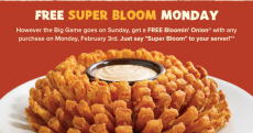 Outback Steakhouse: FREE Bloomin' Onion!