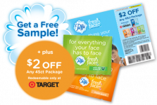 Free Sample of Puffs Fresh Faces + $2 off Coupon!
