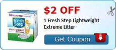 Fresh Step Coupon: $2 off Fresh Step Lightweight Extreme Litter Coupon