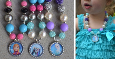 Frozen Inspired Bubblegum Necklaces Only $10.99!