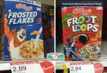 HOT! Kellogg's Cereal As Low As $.82 a Box at Target! (Fruit Loops, Frosted Flakes, and More!)