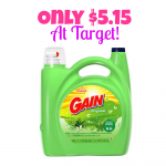 Gain Liquid Detergent 150 oz. Only $5.15 at Target! TODAY ONLY