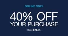 Gap 40% off Coupon Code