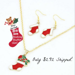 Christmas Necklace & Earrings Gift Set Only $2.89 Shipped!