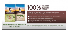 Free Hill's Ideal Balance Dog or Cat Food!