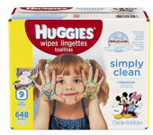 648-Count Huggies Simply Clean Baby Wipes Only $12.07 + FREE Shipping! $0.02 Per Wipe!