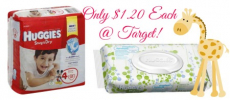 Huggies Jumbo Packs of Diapers + Huggies Wipes as Low as $1.20 Each at Target!