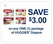 Huggies Jumbo Pack Diapers only $2.99 at Walgreens and Target!