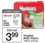 Huggies Wipes only $3.49 at Walgreens!