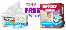 HOT! Huggies Diapers as Low as $3.49 + FREE Wipes at CVS!