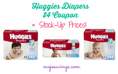 HOT! $4 Off Huggies Coupon=Stock Up Prices!