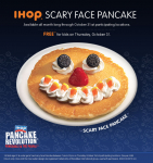 FREE Scary Face Halloween Pancake For Kids on Halloween at IHOP!