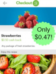 Strawberries only $0.47 at Bashas!